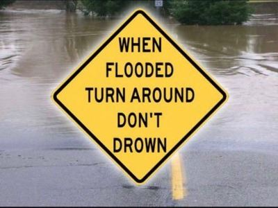 Turn Around Don&#39t Drown Sign