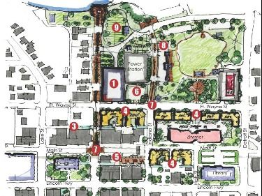 Downtown Rendering Map