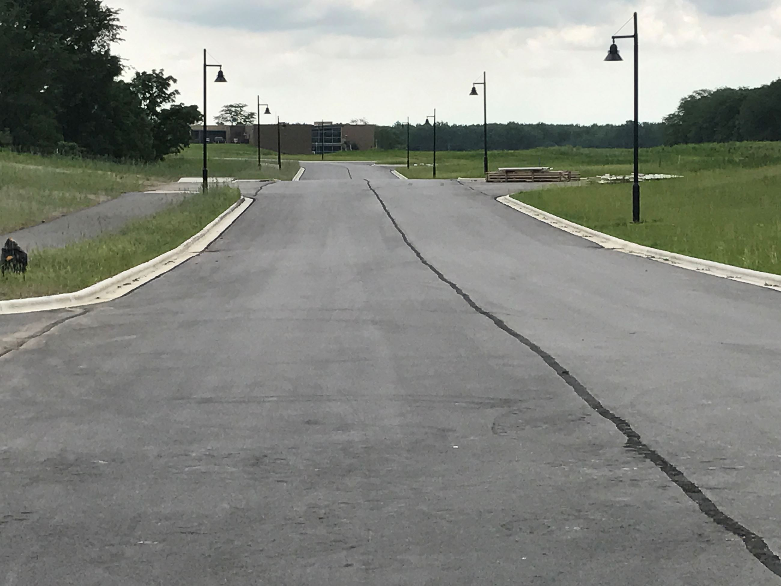Tech Park View Down Completed Road